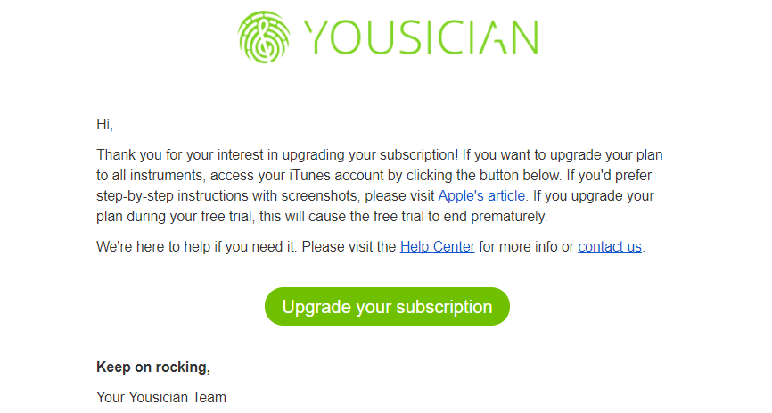 How To Upgrade Your Premium Subscription Yousician Support