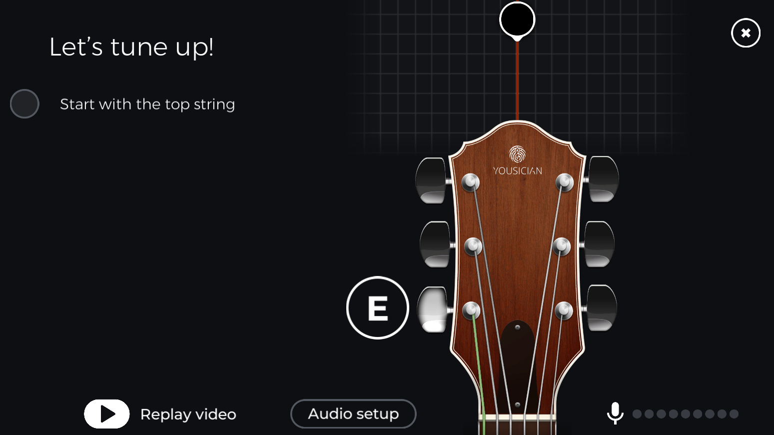 Testing Guitar Input Yousician Support